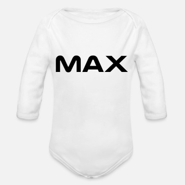 Max Max - Organic Long-Sleeved Baby Bodysuit