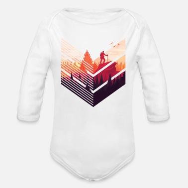 Climber Climber climber nature - Organic Long-Sleeved Baby Bodysuit