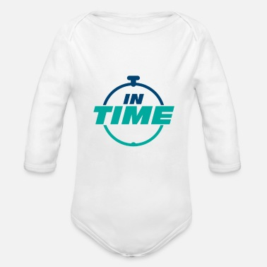 Times IN TIME On time In time clock - Organic Long-Sleeved Baby Bodysuit