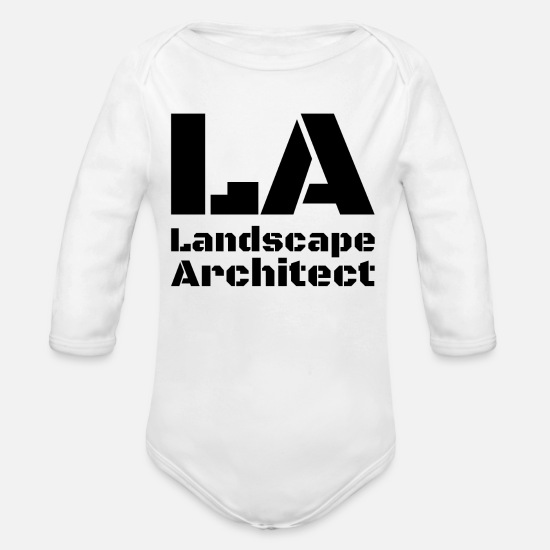 Birthday Baby Clothes - Landscape architect landscape architecture - Organic Long-Sleeved Baby Bodysuit white