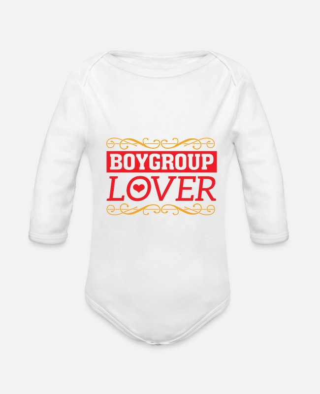 Pop Baby Bodys - Boygroup Boy Band Fan Lover Groupie Geschenk - Baby Bio Langarmbody Weiß