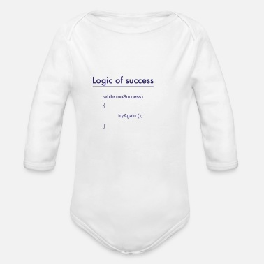 success - Organic Long-Sleeved Baby Bodysuit