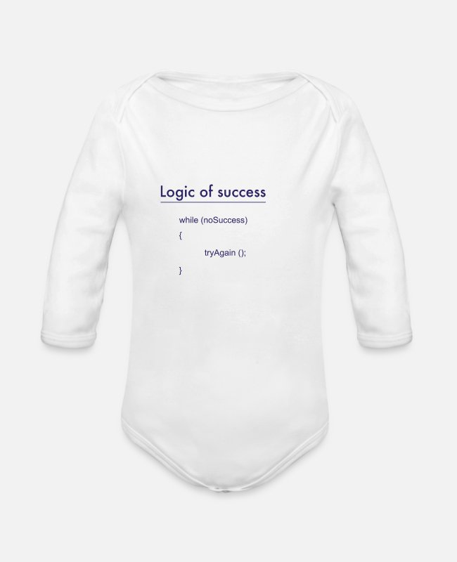 Program (what You Do) Baby Bodysuits - success - Organic Long-Sleeved Baby Bodysuit white