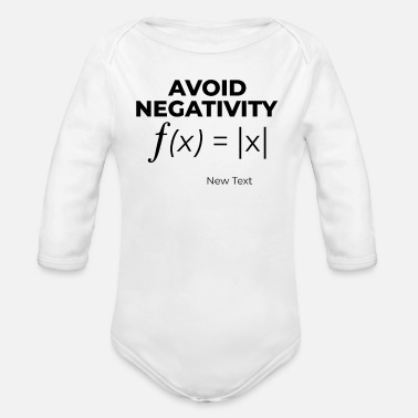 Calculus Avoid Negativity - Calculus - Organic Long-Sleeved Baby Bodysuit