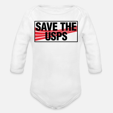 Post Save The USPS Protect Postal Service Fun Gift - Organic Long-Sleeved Baby Bodysuit