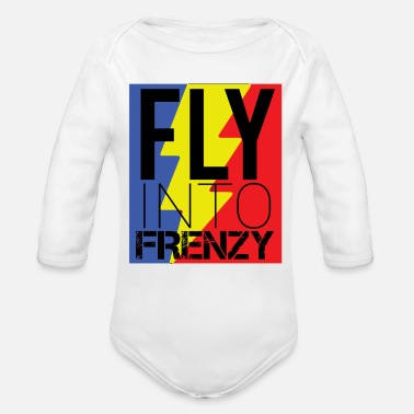 Speed Frenzy Fly frenzy at breakneck speed - Organic Long-Sleeved Baby Bodysuit