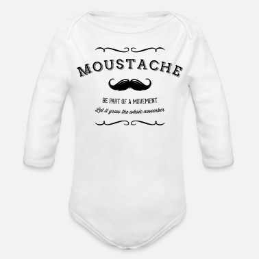 Movement November Moustache Movement - Ekologisk långärmad babybody