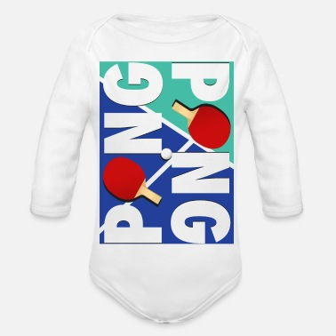 Sport Ping Pong sports racket design - Organic Long-Sleeved Baby Bodysuit