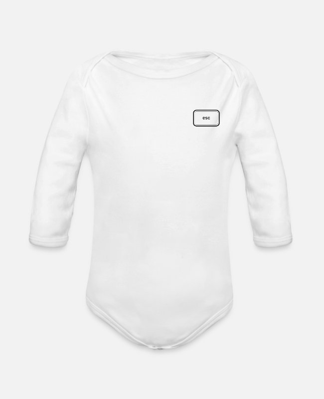 PC Baby Bodysuits - Esc - Organic Long-Sleeved Baby Bodysuit white