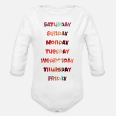 Day Of The Week The weekdays - Organic Long-Sleeved Baby Bodysuit