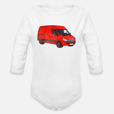 Streaker Van Art Car Graphic - Organic Long-Sleeved Baby Bodysuit