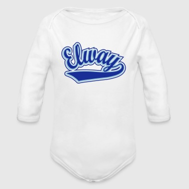 Personalised Elway - T-shirt Personalised with your name - Organic Longsleeve Baby Bodysuit
