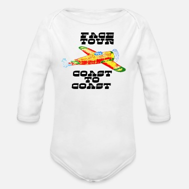 Coast Coast To Coast Graphic - Organic Long-Sleeved Baby Bodysuit