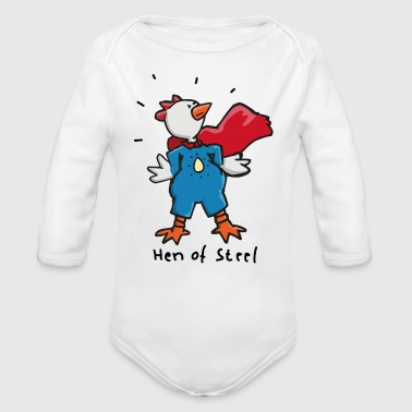 Hen Hen of Steel - Superhuhn - Baby Bio-Langarm-Body