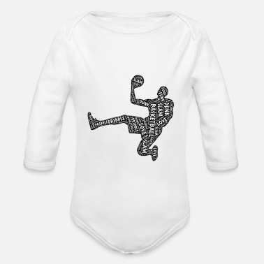 Basketball Player Basketball Basketball Player Basketball Player - Organic Long-Sleeved Baby Bodysuit