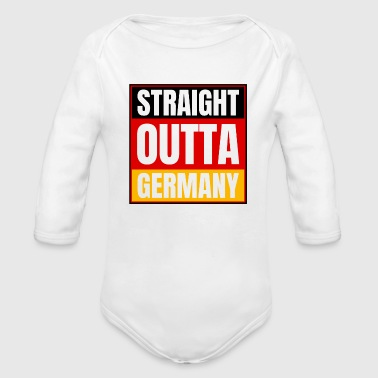 Straight Outta Germany Logo Deutschland - Baby Bio-Langarm-Body