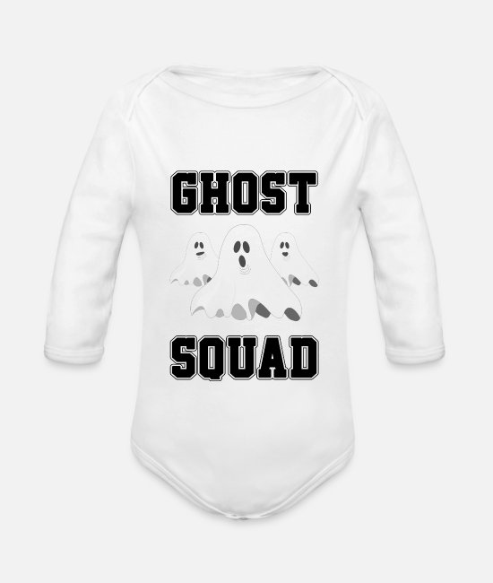Halloween Baby Clothes - Halloween - Organic Long-Sleeved Baby Bodysuit white