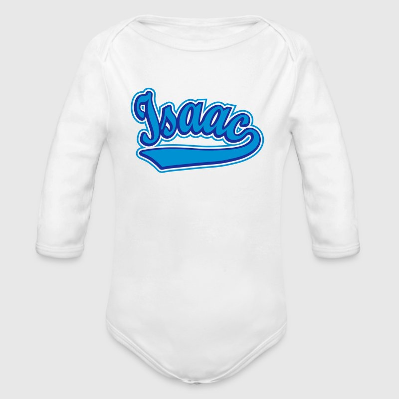 Isaac - T-shirt Personalised with your name - Organic Longsleeve Baby Bodysuit