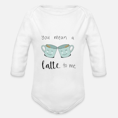 Icon Latte Coffee - Organic Long-Sleeved Baby Bodysuit