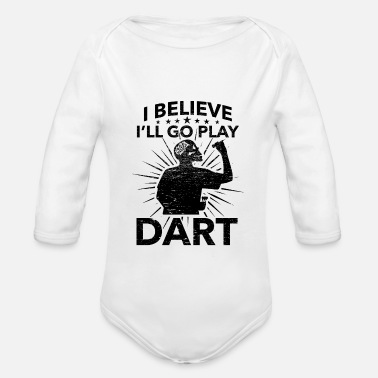 League Game Darts, Bar, League Game, Men's Night, Marriage Club, Fun - Organic Long-Sleeved Baby Bodysuit