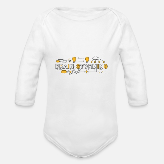 Vision Baby Clothes - Ideas collection - Organic Long-Sleeved Baby Bodysuit white