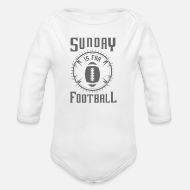Daddy Sunday is for Football - awesome sports fandom - Vauvan pitkähihainen luomu-body
