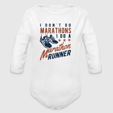 I don't do Marathons i do a Marathon runner  - Økologisk langermet baby-body