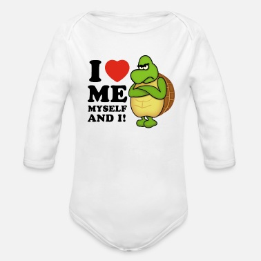 i love me myself and i (positiv) - Baby Bio-Langarm-Body