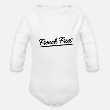Uptodate French Fries Pommes Fitten Hip & Trendy Gift - Organic Long-Sleeved Baby Bodysuit