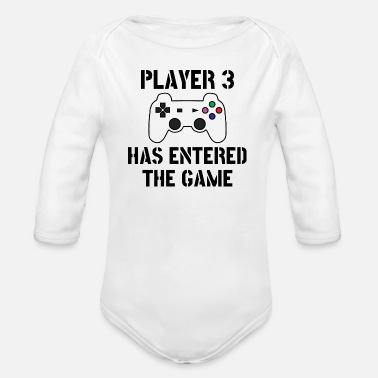 Game Player 3 has entered the game - Gamer Baby Gaming - Baby Bio Langarmbody