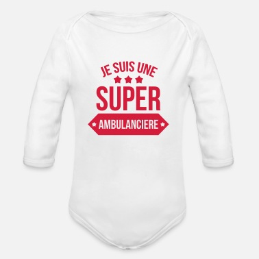 Ambulancier Ambulancier / Ambulance / Médecin / Hôpital - Body bébé bio manches longues