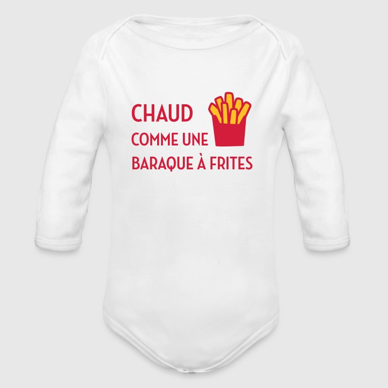 Chaud comme une baraque à frites / Sexy / Sexe - Organic Longsleeve Baby Bodysuit