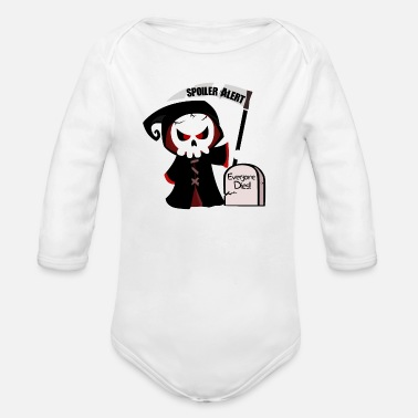 Spoiler Alert Everyone Spoiler Alert, everyone dies | Godfather death monster - Organic Long-Sleeved Baby Bodysuit