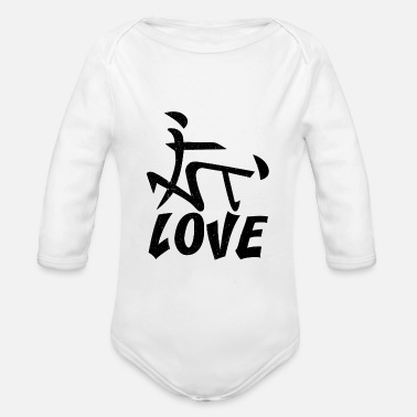Sex Position Chinese characters sex position gift - Organic Longsleeve Baby Bodysuit