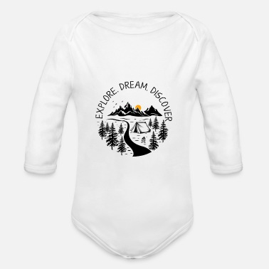 Wilderness wilderness - Organic Long-Sleeved Baby Bodysuit