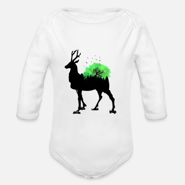 Antler antler - Organic Long-Sleeved Baby Bodysuit
