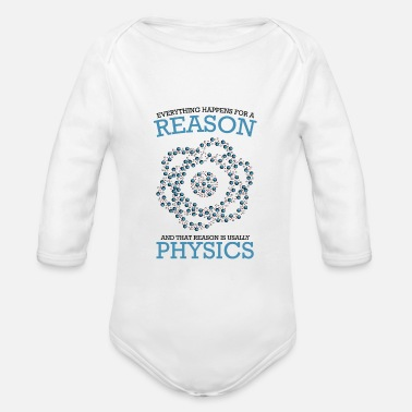 Physicist physicist - Organic Long-Sleeved Baby Bodysuit