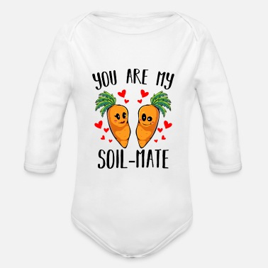 Carrot Carrot carrot - Organic Long-Sleeved Baby Bodysuit