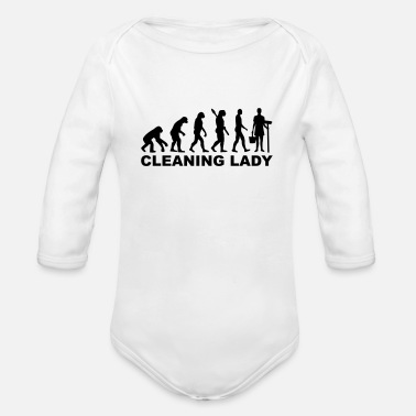 Clean What It Is cleaning woman - Organic Long-Sleeved Baby Bodysuit