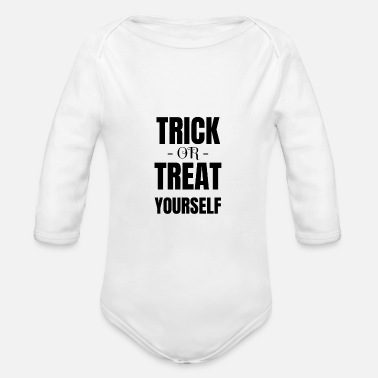 Trick Or Treat Trick or treat Halloween trick or treat - Baby bio-rompertje met lange mouwen
