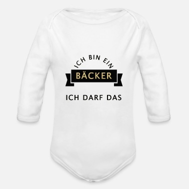 Baker baker - Organic Long-Sleeved Baby Bodysuit