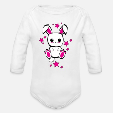Kawaii LAPIN MIGNON KAWAII - CUTE RABBIT - Body bébé bio manches longues