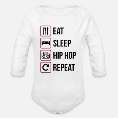 9ab6337853b49 Rap Coma el sueño Repetición de Hip Hop - Body de manga larga bebé