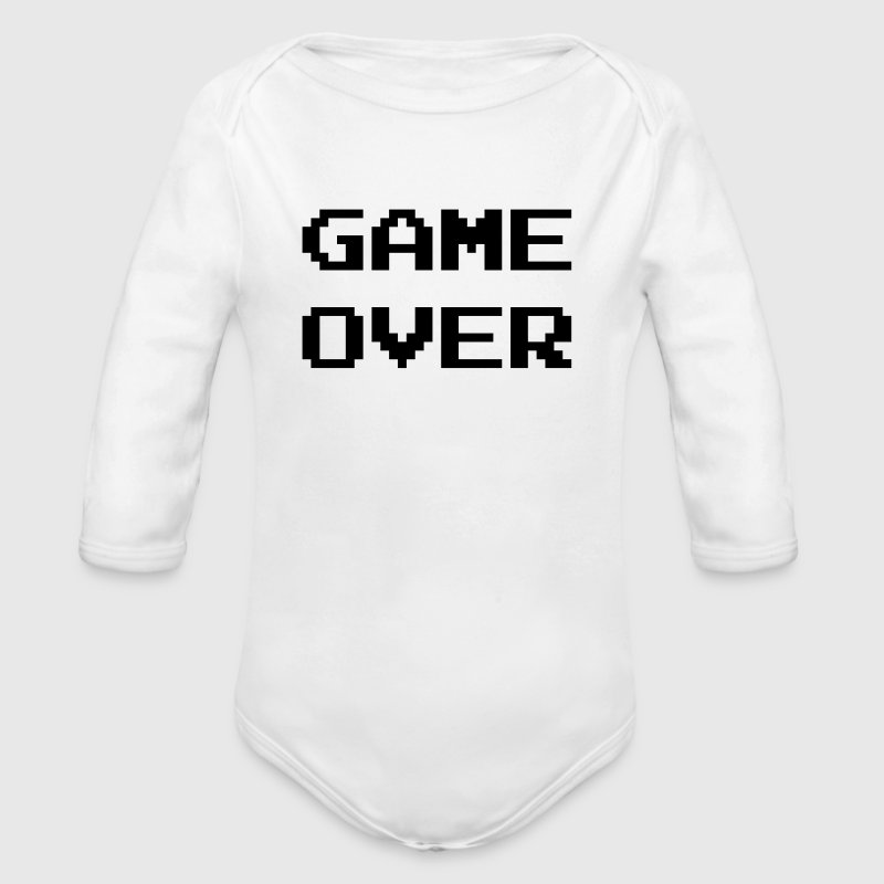 Game Over / Geek / Gaming / Gamer / Gamer / Player - Body bébé bio manches longues