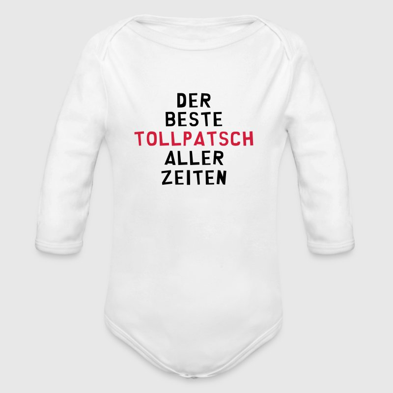 Tollpatsch Tollpatscherin Trampel Ungeschickte - Baby Bio-Langarm-Body