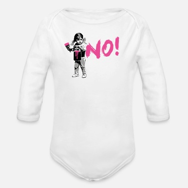 Girl Power NO! - Organic Longsleeve Baby Bodysuit