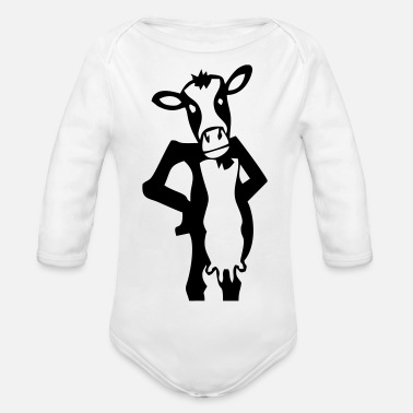 Cow Cow cow cows - Organic Long-Sleeved Baby Bodysuit