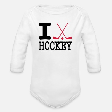 Hockey i love hockey II - Baby bio-rompertje met lange mouwen