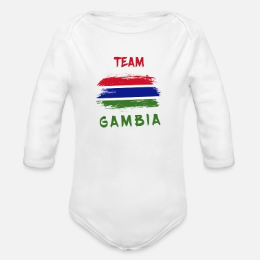 Gambia Team Gambia design / gift idea - Organic Long-Sleeved Baby Bodysuit