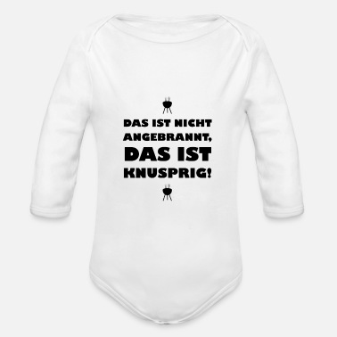 Burnt not burnt - Organic Long-Sleeved Baby Bodysuit